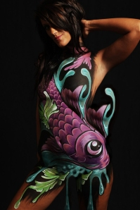 Model: Brittany Jones Body Paint by Tia Adams UNRETOUCHED IMAGE